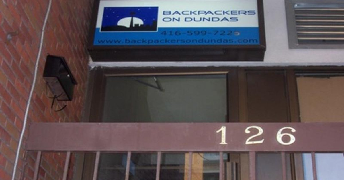 Backpackers on Dundas