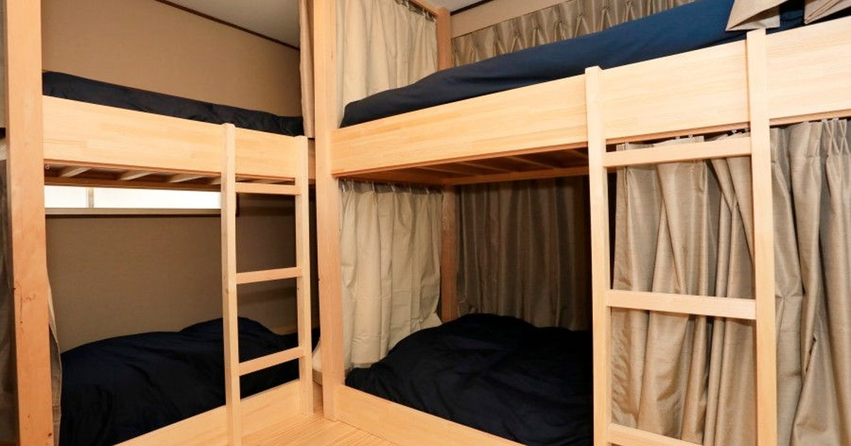 male dormitory with bunk beds