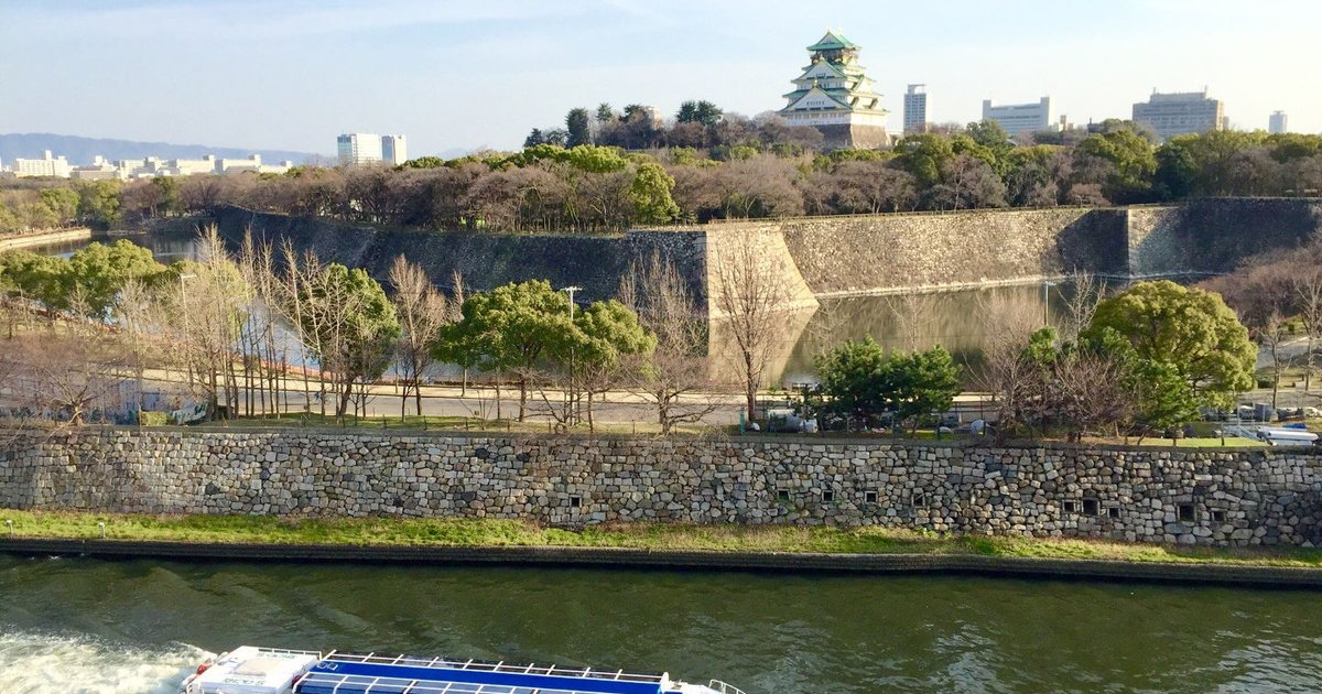 509 Osaka-castle,along the river