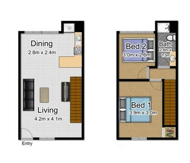 Townhouse Two-Bedroom