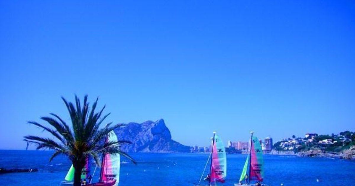 Apartment with beach, garden in Calpe