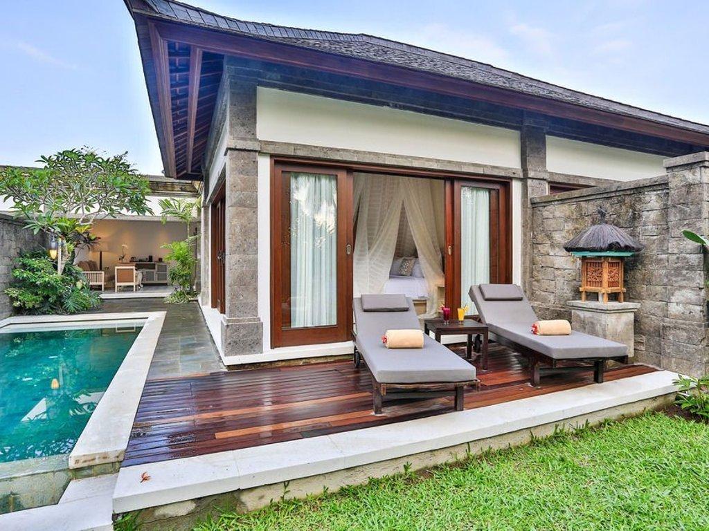 villa di ubud dengan kolam renang pribadi