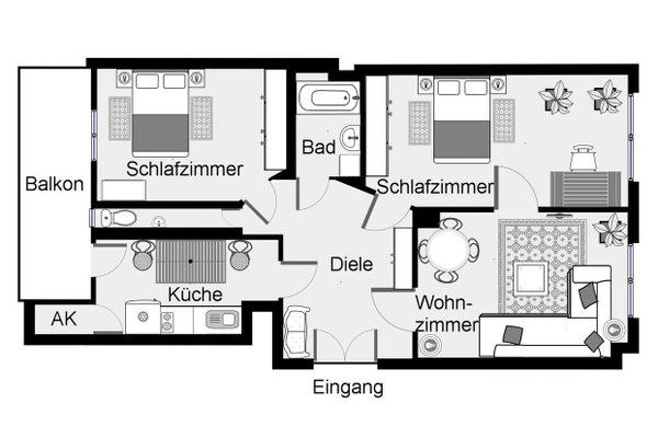 Apartment Heinrich-Budde-Strasse - фото 23