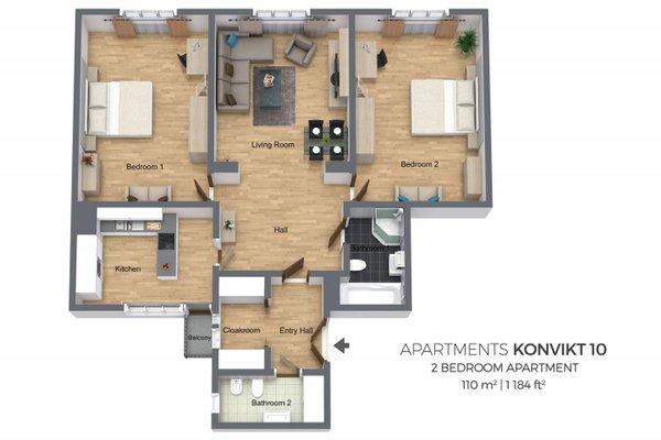 Konvikt Apartment - фото 11