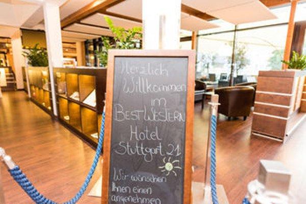 Best Western Hotel Stuttgart 21 - фото 12