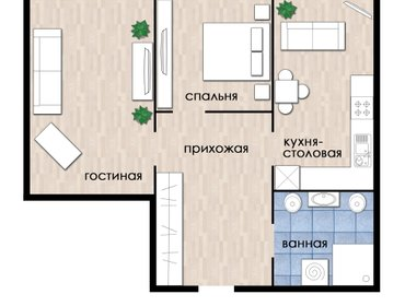 Апартаменты New 2 beroom apartment  in Presigious City area