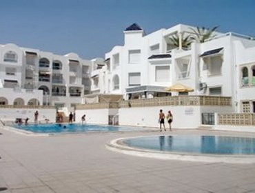 อพาร์ทเมนท์ Beachside flat near Hammamet with pool