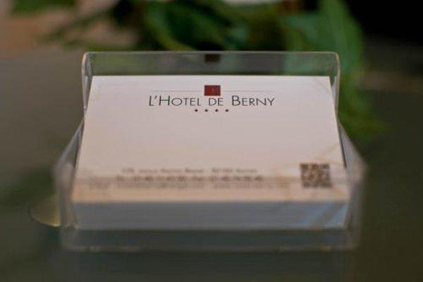 Hotel de Berny - фото 21