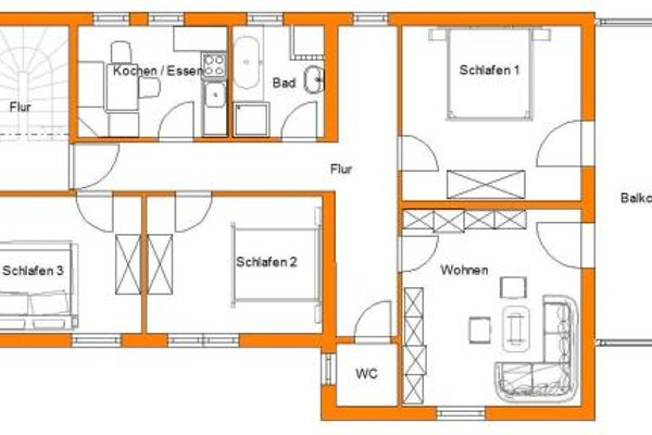 Appartement Ferienwohnung Bungalow Accanto - фото 4
