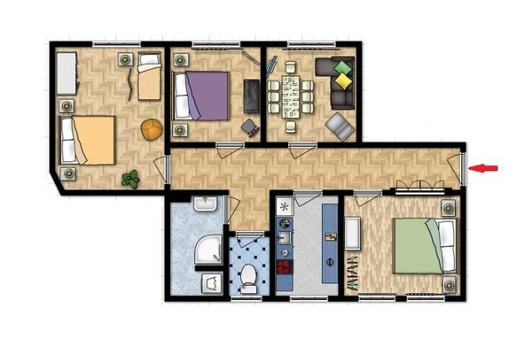 Modern apartment Michalska 6 - фото 22