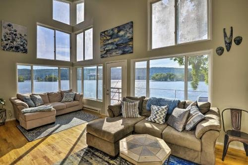 Photo of Waterfront DeRuyter Home with Private Dock!