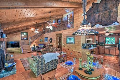 Photo of Riverfront Hayesville House with Spacious Deck!