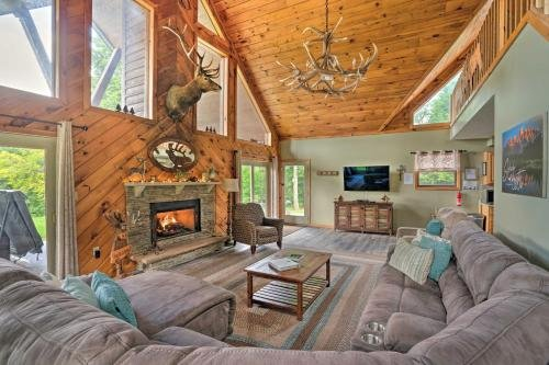 Photo of 3-Acre Benezette Cabin with Hot Tub, Grill and Mtn View
