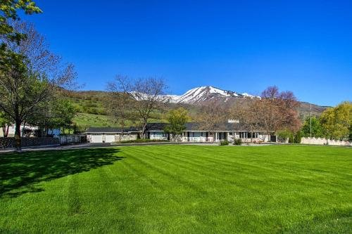 Photo of Wellsville House with Mtn Views, Yard and Tennis Court!