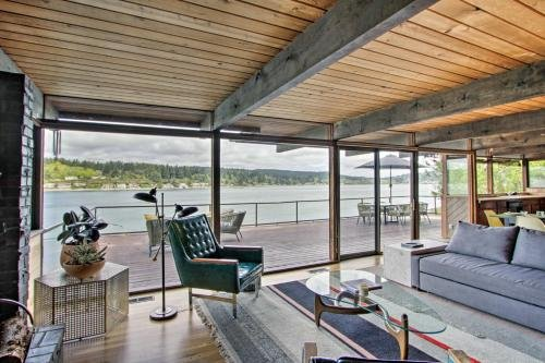 Photo of Waterfront Port Orchard Home with Furnished Deck