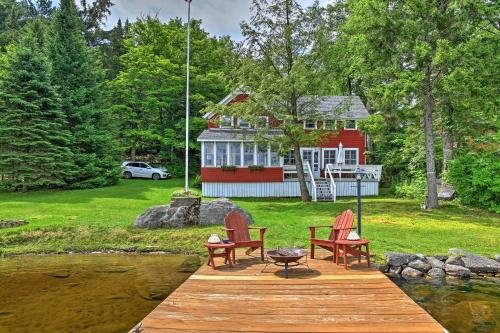 Photo of Cozy Pleasant Lake Escape with Dock, Deck and Fire Pit