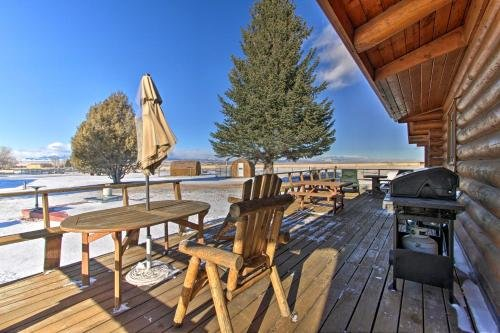 Photo of Dillon Log Home with Hot Tub by Beaverhead and Hiking!