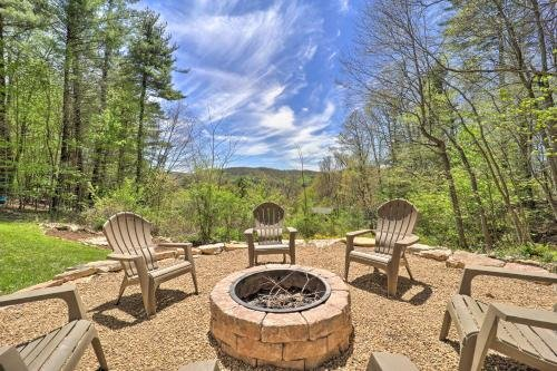 Photo of Woodsy Getaway with Hot Tub, Deck and Mtn Views!