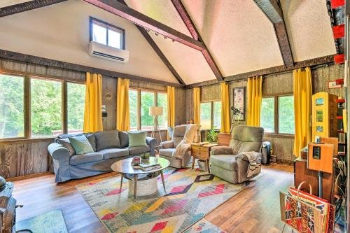 Photo of Vibrant Putney Cabin with Fire Pit Hike and Ski!
