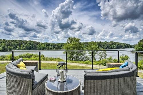Photo of Upscale Lake View Home with Multi-Level Deck