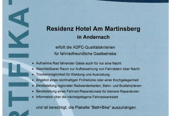 Residenz Hotel Am Martinsberg - фото 21
