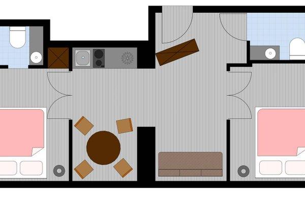 La Gioia Grey Stylish Apartments - фото 23